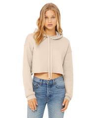 Bella + Canvas Ladies' Cropped Fleece Hoodie B7502