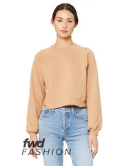 Bella + Canvas FWD Fashion Ladies' Raglan Pullover Fleece B7505