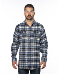 Burnside Men's Plaid Flannel Shirt B8210