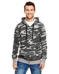 Burnside Men's  French Terry Full-Zip Hooded Sweatshirt