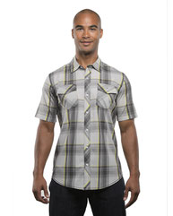 Burnside Men's Short-Sleeve Plaid Pattern Woven Shirt