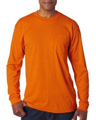 Bayside Adult Long-Sleeve T-Shirt with Pocket BA1730