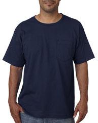 Bayside Adult Short-Sleeve T-Shirt with Pocket BA5070