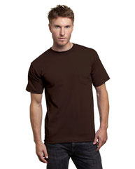 Bayside Adult 6.1 oz., 100% Cotton Pocket T-Shirt BA7100
