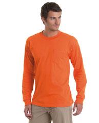 Bayside Adult 6.1 oz., 100% Cotton Long Sleeve Pocket T-Shirt BA8100