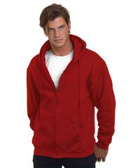 Bayside Adult  9.5oz., 80% cotton/20% polyester Full-Zip Hooded Sweatshirt BA900