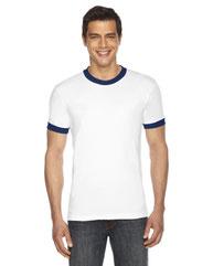American Apparel UNISEX Poly-Cotton Short-Sleeve Ringer T-Shirt BB410W