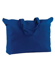BAGedge 12 oz. Canvas Zippered Book Tote BE009