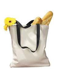 BAGedge 12 oz. Canvas Tote with Contrasting Handles BE010