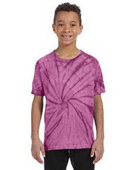 Tie-Dye Youth 5.4 oz. 100% Cotton Spider T-Shirt