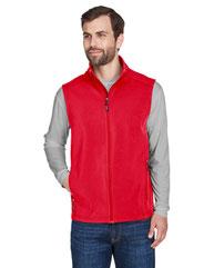 Core 365 Men's Cruise Two-Layer Fleece Bonded Soft Shell Vest CE701