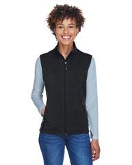 Core 365 Ladies' Cruise Two-Layer Fleece Bonded SoftShell Vest CE701W