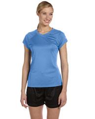 Champion Ladies' 4.1 oz. Double Dry® V-Neck T-Shirt