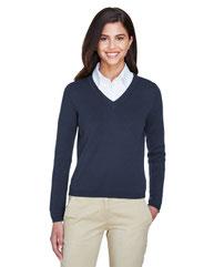 Devon & Jones Ladies' V-Neck Sweater D475W