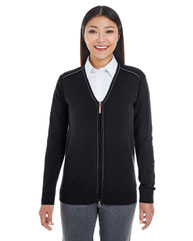 Devon & Jones Ladies' Manchester Fully-Fashioned Full-Zip Cardigan Sweater DG478W