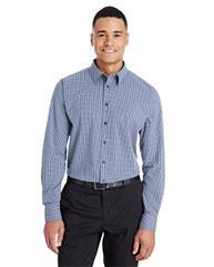 Devon & Jones CrownLux Performance™ Men's Tonal Mini Check Shirt DG535