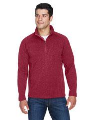 Devon & Jones Adult Bristol Sweater Fleece Quarter-Zip DG792