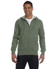 econscious Men's 7 oz. Organic/Recycled Heathered Full-Zip Hood EC5680