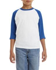 Gildan Youth  Heavy Cotton™ 5.3 oz. 3/4-Raglan Sleeve T-Shirt G570B