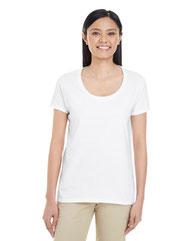 Gildan Ladies' Softstyle®  4.5 oz. Deep Scoop T-Shirt G6455L