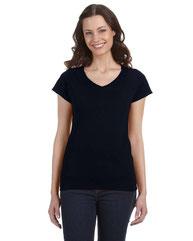 Gildan Ladies' SoftStyle® 4.5 oz. Fitted V-Neck T-Shirt G64VL