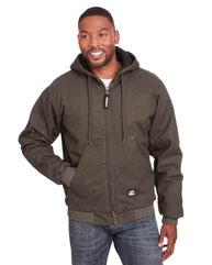Berne Men's Highland Washed Cotton Duck Hooded Jacket