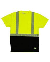 Berne Unisex Hi-Vis Class 2 Color Blocked Pocket T-Shirt