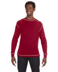J America Men's Vintage Long-Sleeve Thermal T-Shirt JA8238