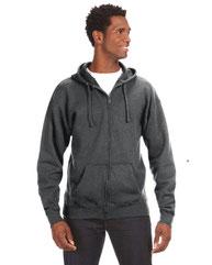 J America Adult Premium Full-Zip Fleece Hood JA8821