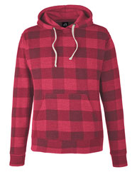 J America Adult Triblend Pullover Fleece Hood