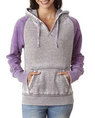 J America Ladies' Zen Contrast Pullover Hood JA8926