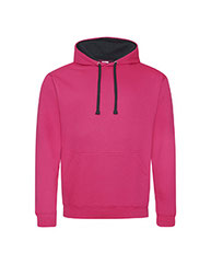 Just Hoods By AWDis Adult 80/20 Midweight Varsity Contrast Hooded Sweatshirt JHA003