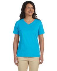 LAT Ladies' Premium Jersey V-Neck T-Shirt