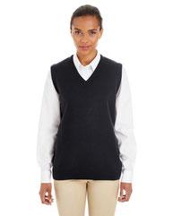 Harriton Ladies' Pilbloc™ V-Neck Sweater Vest M415W