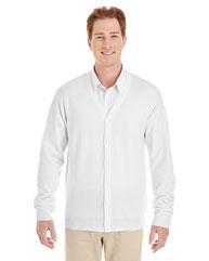 Harriton Men's Pilbloc™ V-Neck Button Cardigan Sweater M425