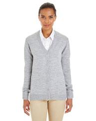 Harriton Ladies' Pilbloc™ V-Neck Button Cardigan Sweater M425W
