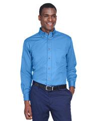 Harriton Men's Easy Blend™ Long-Sleeve TwillShirt withStain-Release M500