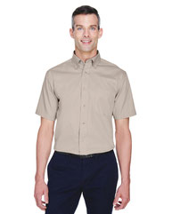 Harriton Men's Easy Blend™ Short-Sleeve Twill Shirt withStain-Release M500S