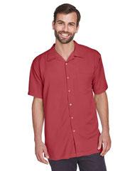 Harriton Men's Bahama Cord Camp Shirt M570
