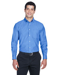 Harriton Men's Long-Sleeve Oxford with Stain-Release M600