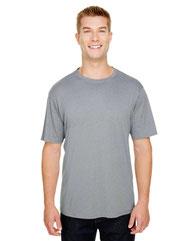 A4 Adult  Topflight Heather Performance T-Shirt