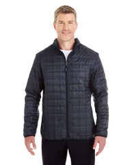 North End Men's Portal Interactive Printed Packable Puffer Jacket NE701