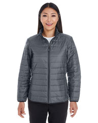North End Ladies' Portal Interactive Printed Packable Puffer Jacket NE701W