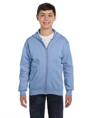 Hanes Youth 7.8 oz. EcoSmart® 50/50 Full-Zip Hood P480