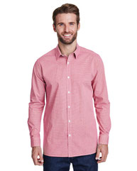 Artisan Collection by Reprime Men's Microcheck Gingham Long-Sleeve Cotton Shirt RP220