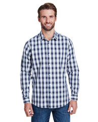 Artisan Collection by Reprime Men's Mulligan Check Long-Sleeve Cotton Shirt RP250