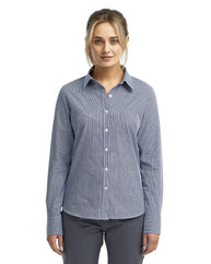 Artisan Collection by Reprime Ladies' Microcheck Gingham Long-Sleeve Cotton Shirt RP320