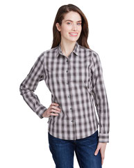 Artisan Collection by Reprime Ladies' Mulligan Check Long-Sleeve Cotton Shirt RP350