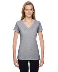Fruit of the Loom Ladies' 4.7 oz. Sofspun® Jersey Junior V-Neck T-Shirt SFJVR
