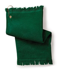 Towels Plus FringedFingertip Towel with Corner Grommet and Hook T60GH